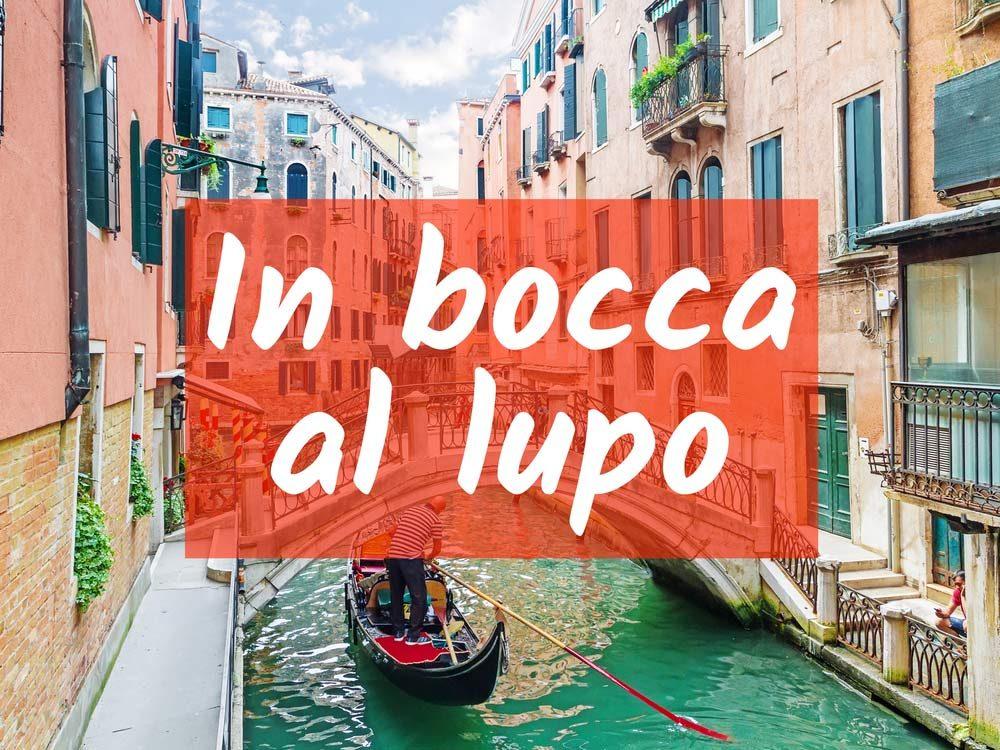 In bocca al lupo (good luck)