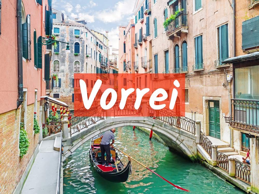 Vorrei (I would like)