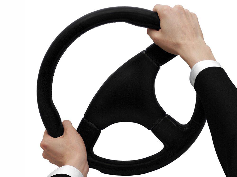 Locked steering wheel