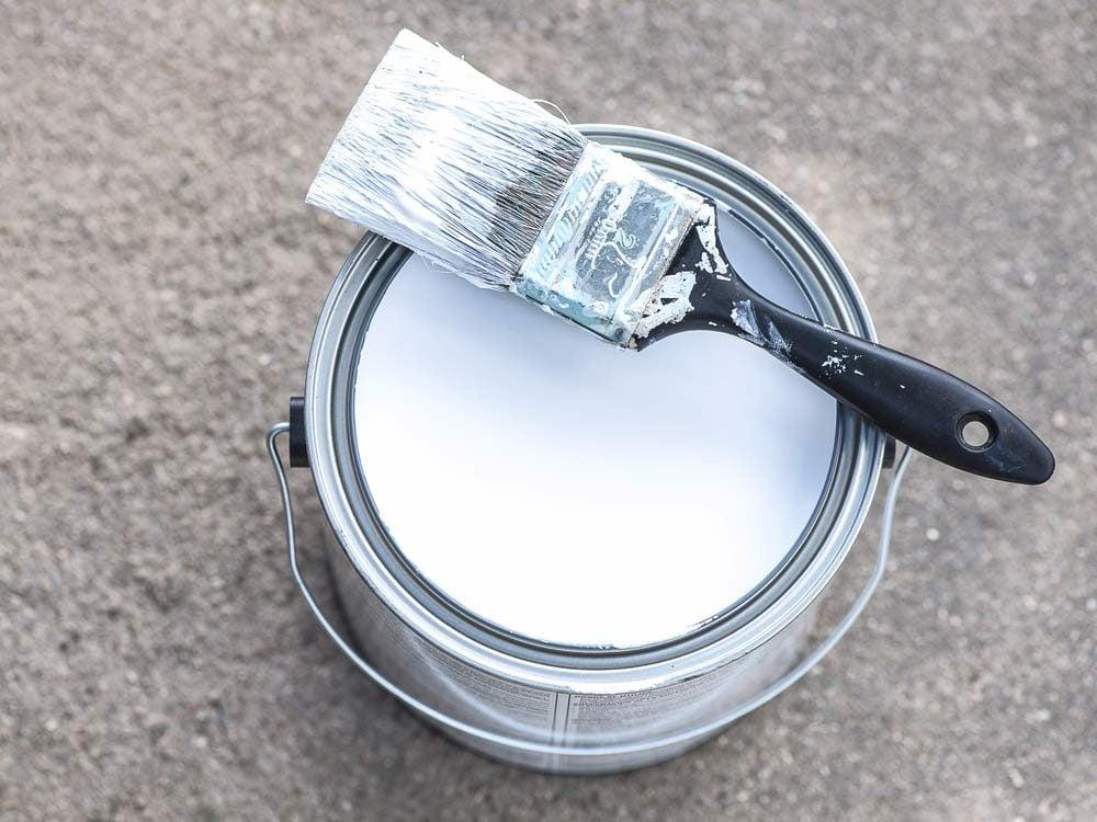 Never pour paint down the drain