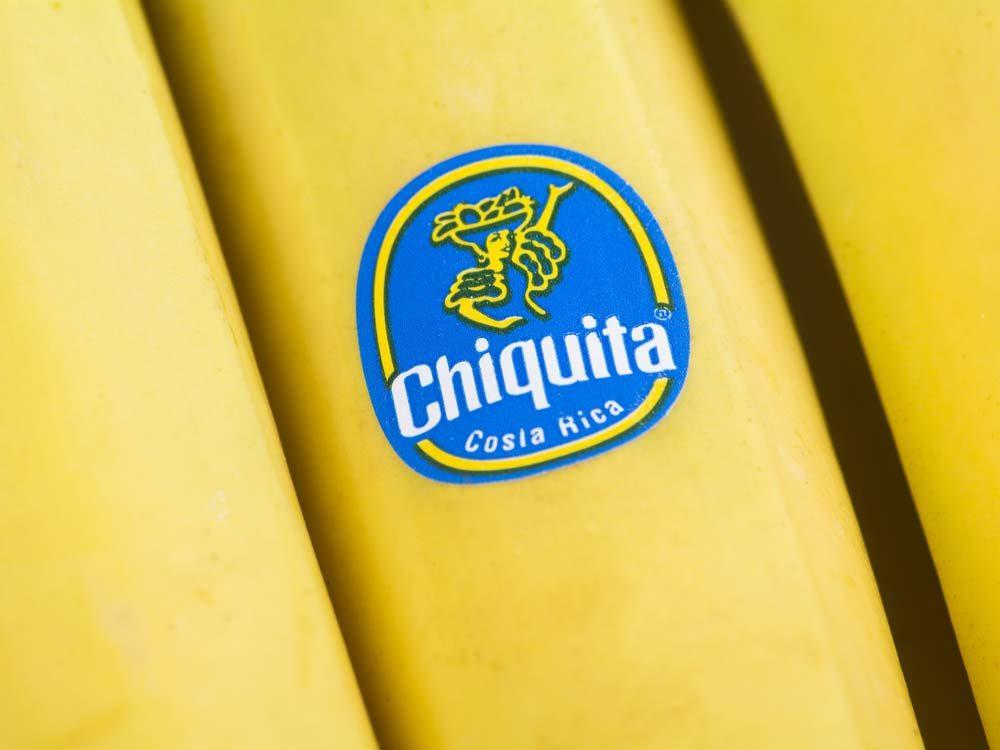 Sticker on banana