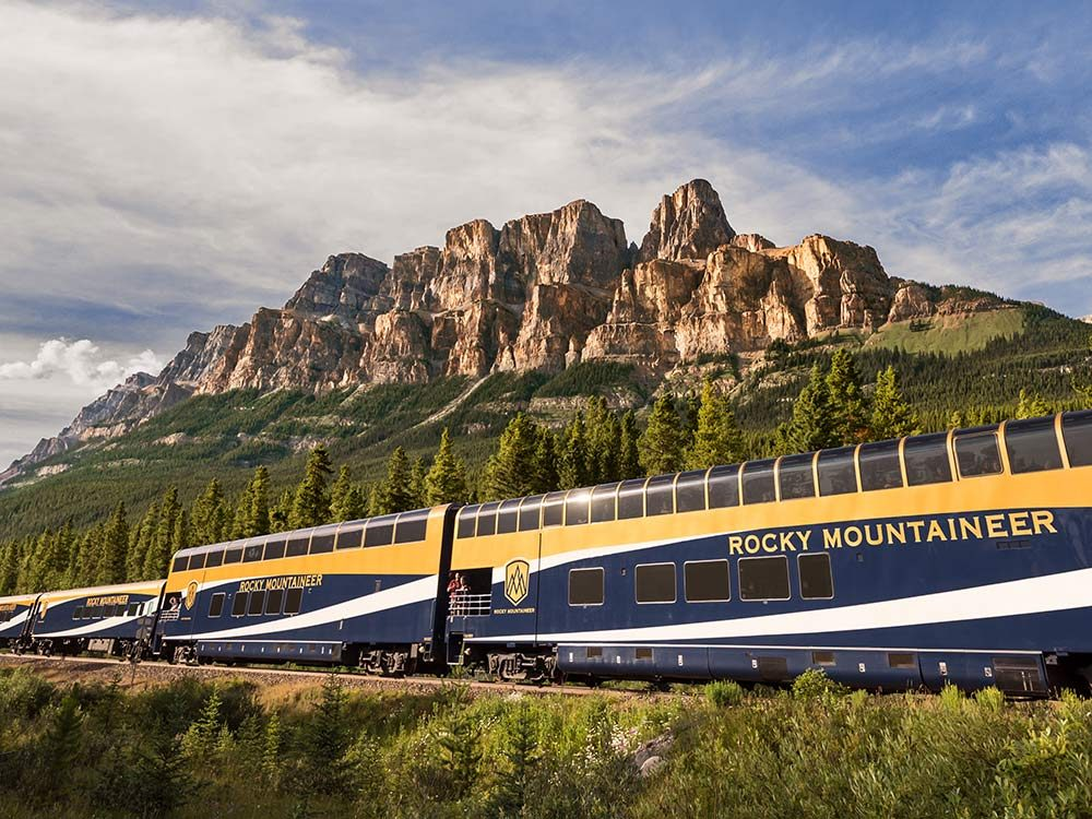 Rocky Mountaineer mountain rides