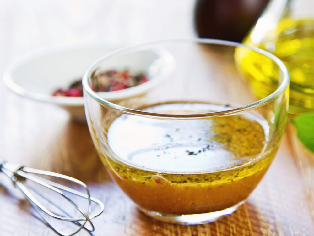 Choose homemade salad dressing to eat less fat