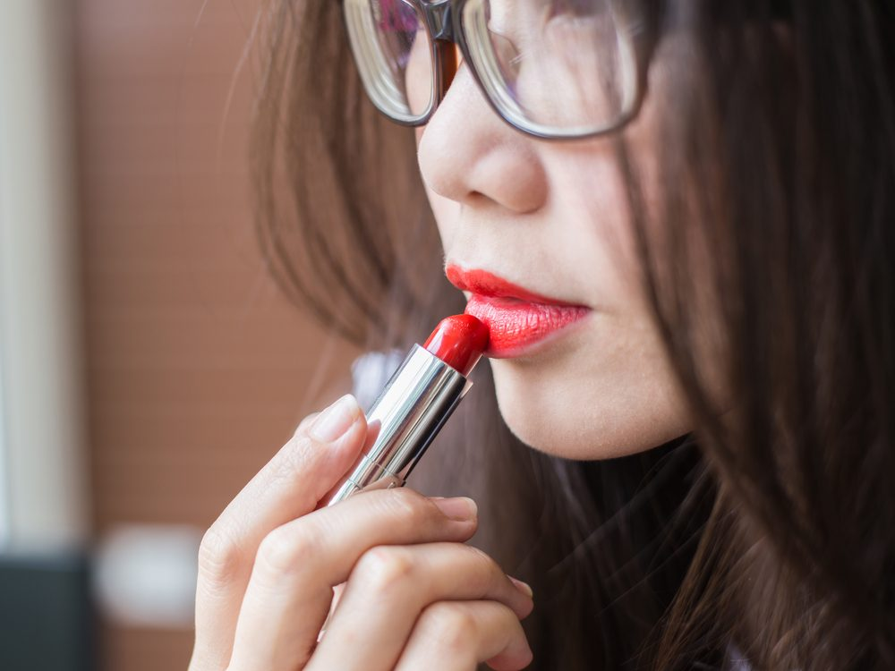 Wear red lipstick during the day
