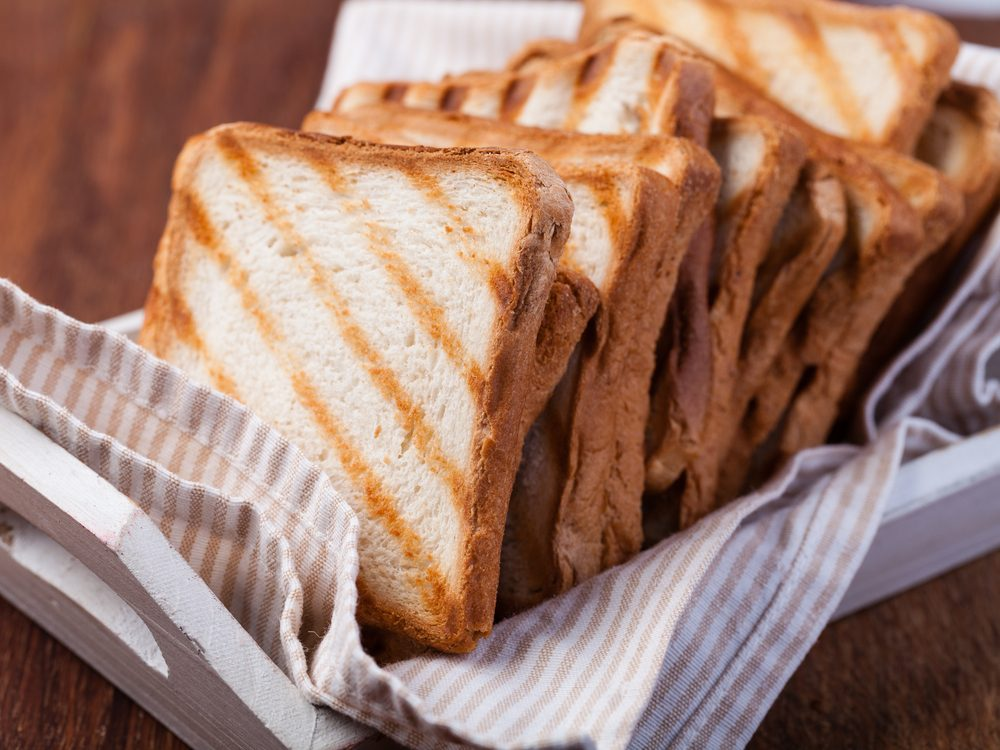 Whole grain toast is an energy boosting food that will wake you up
