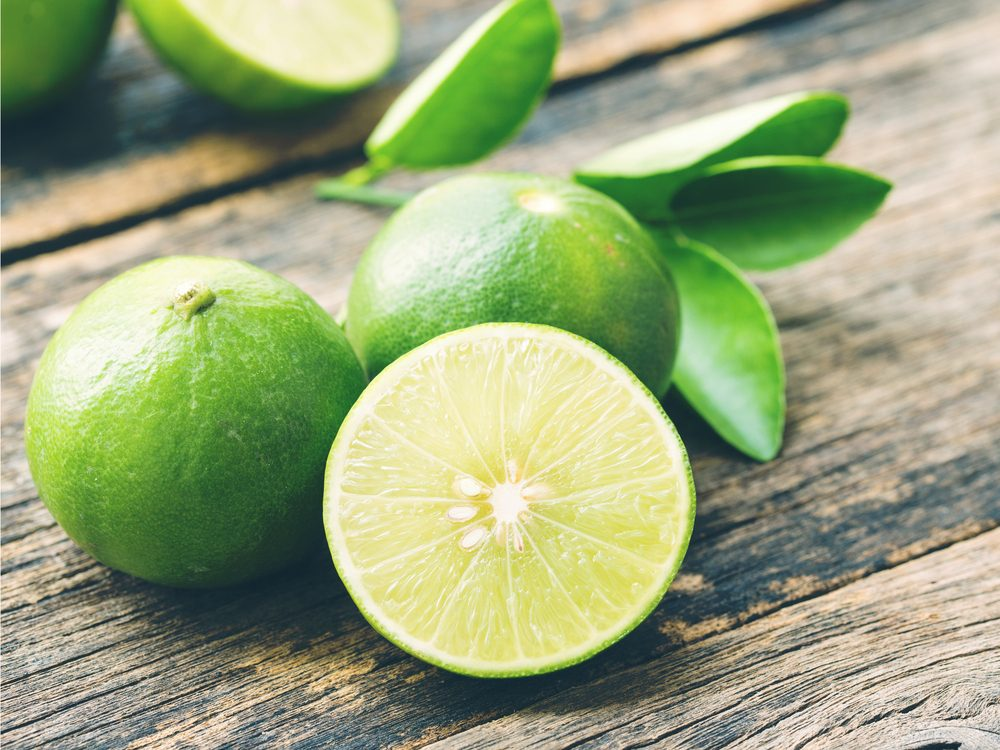 Limes help with weight loss