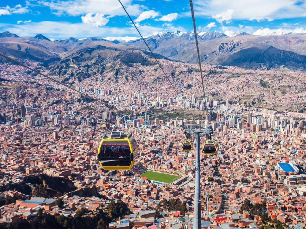 Teleferico cable car system in Bolivia