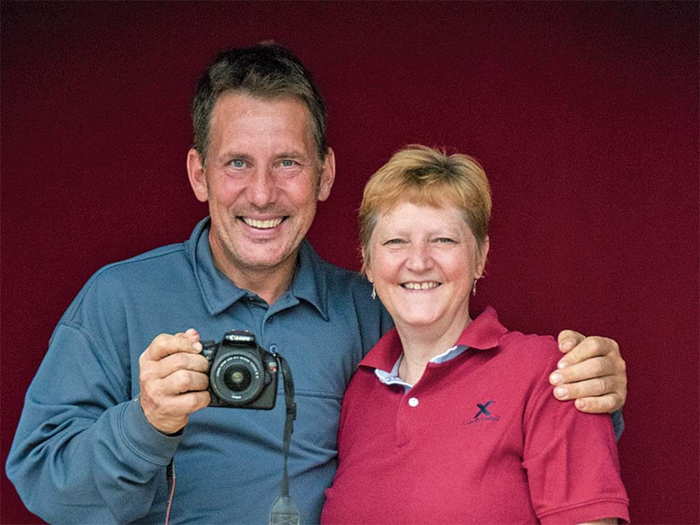 Canadian couple with camera