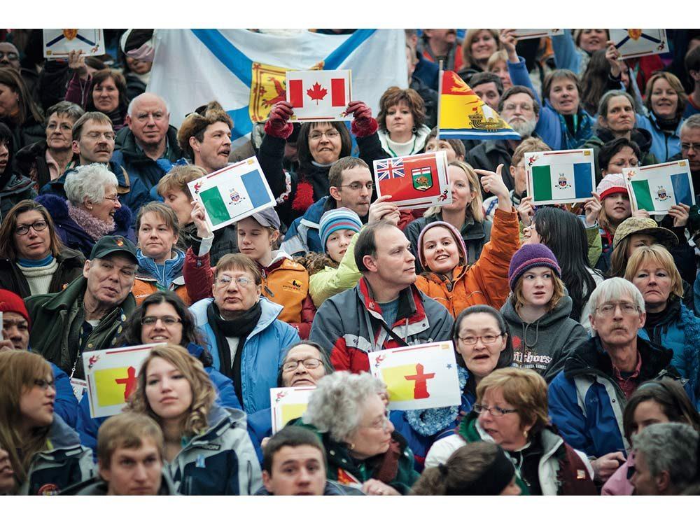 Crowd of international people