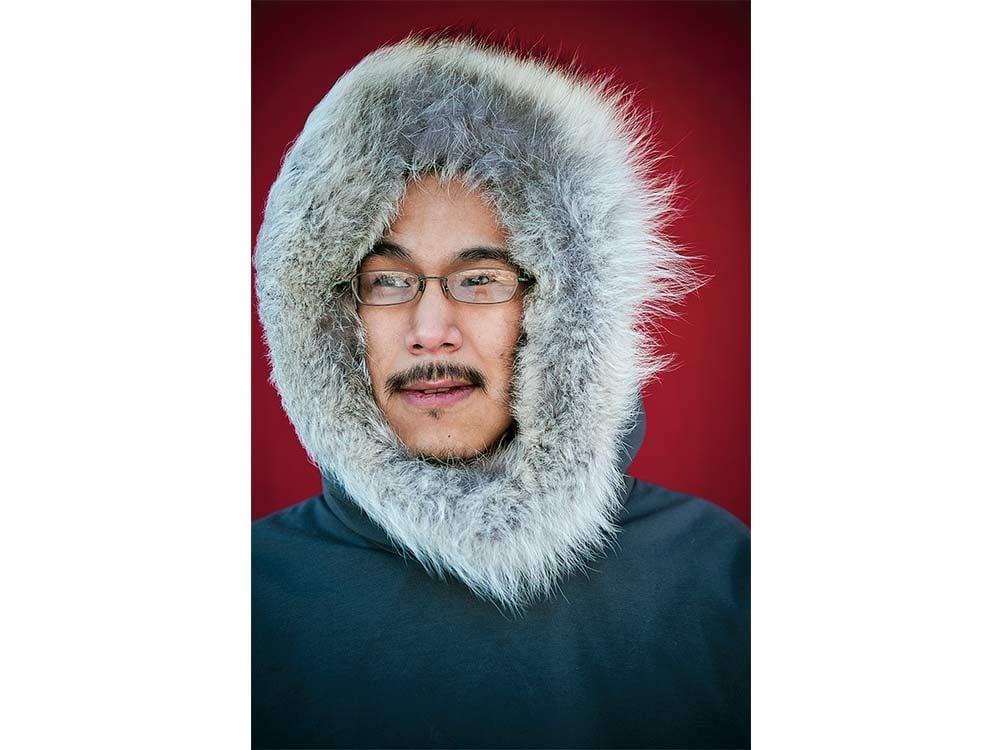 Canadian man wearing parka