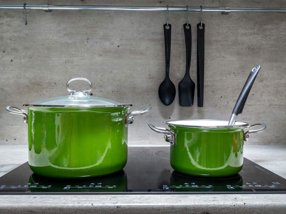Use denture tablets to clean enamel cookware