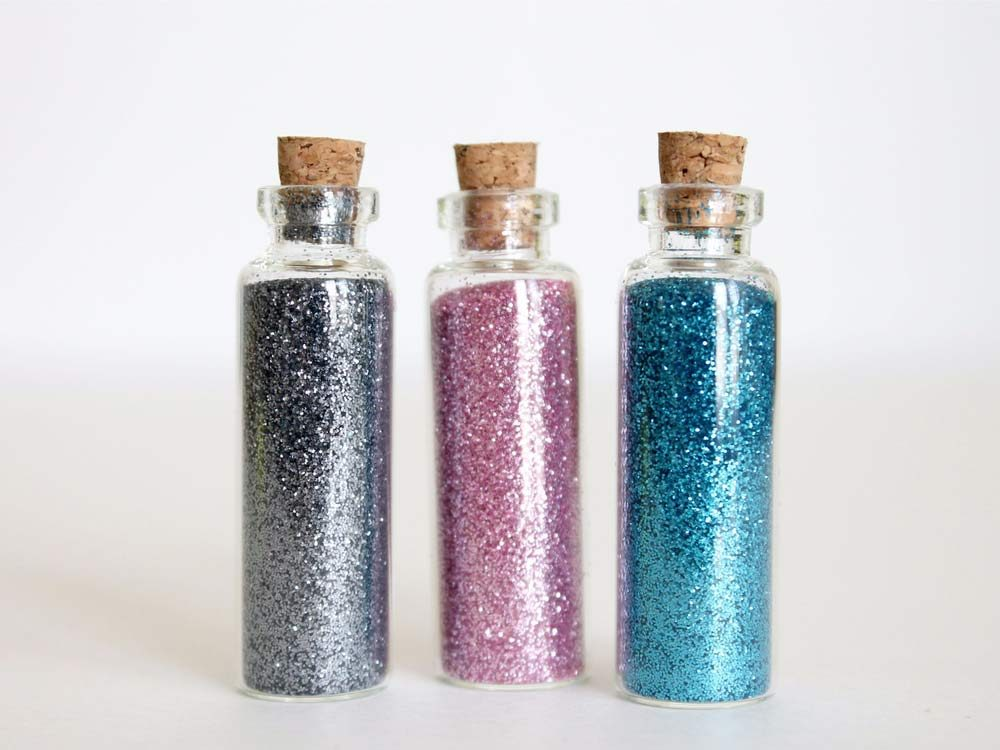 Use lint rollers to clean up glitter