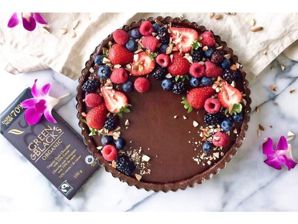 Vegan, Gluten Free and Paleo No Bake Chocolate Tart