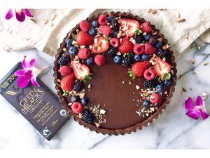 Vegan, Gluten Free and Paleo No-Bake Chocolate Tart