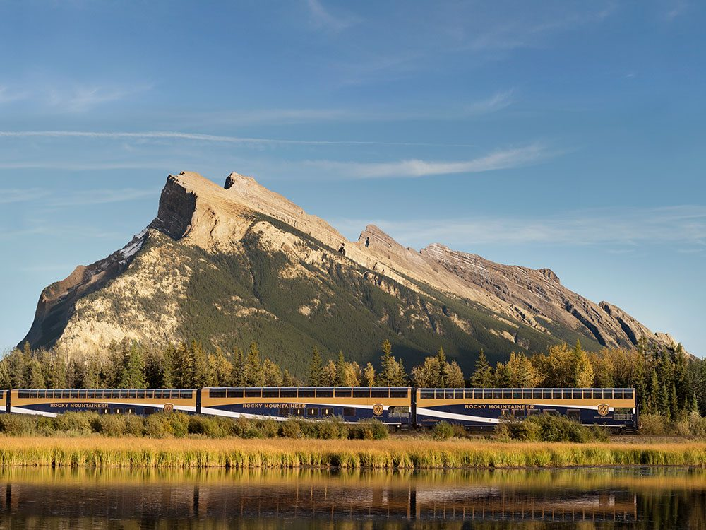 Vermillion Lakes on Rocky Mountaineer