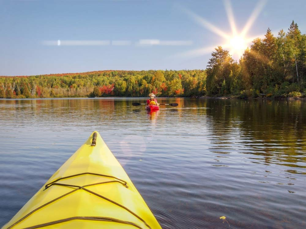 Canoeing in Canadian national park