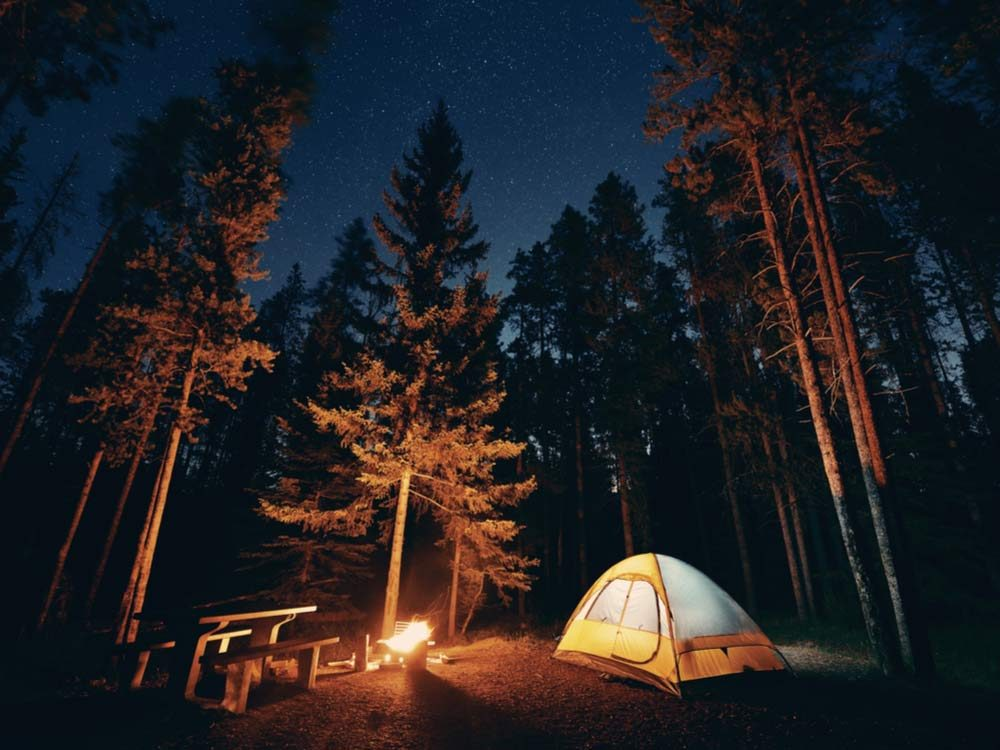 Camping in Canadian national park