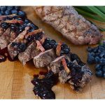 BBQ pork tenderloin with blueberry sauce