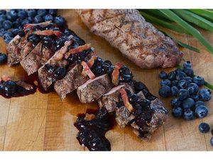 BBQ Pork Tenderloin with Blueberry Sauce