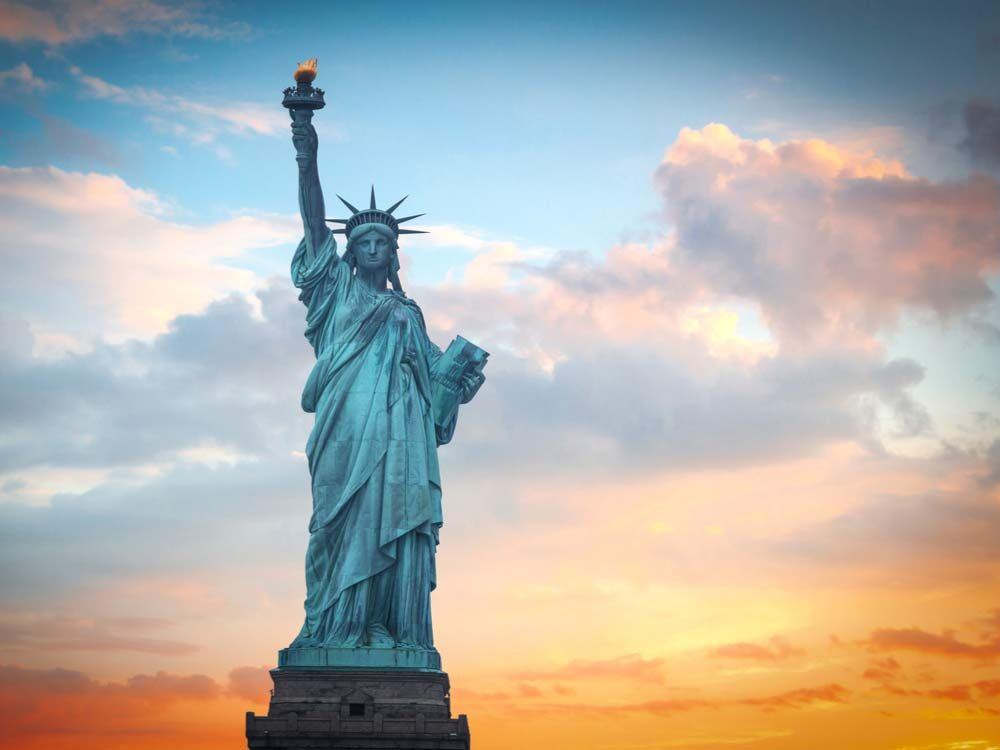 Statue of Liberty is one of the most famous American landmarks