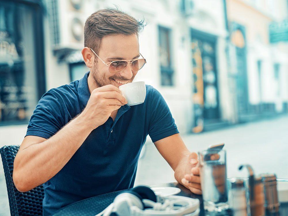 Check social media on your coffee break
