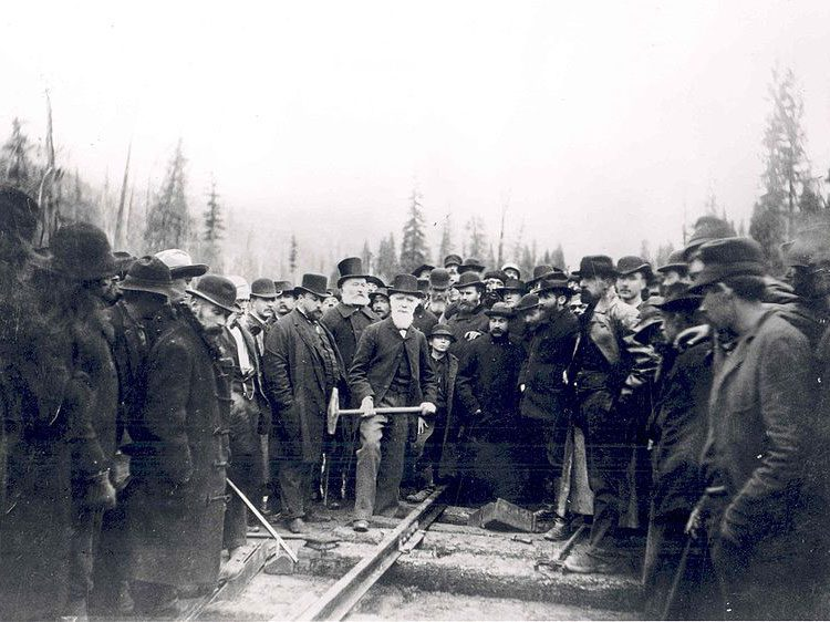 Driving the last spike in the railroad