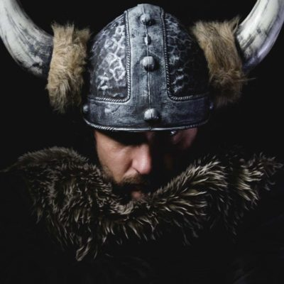 Viking with helmet