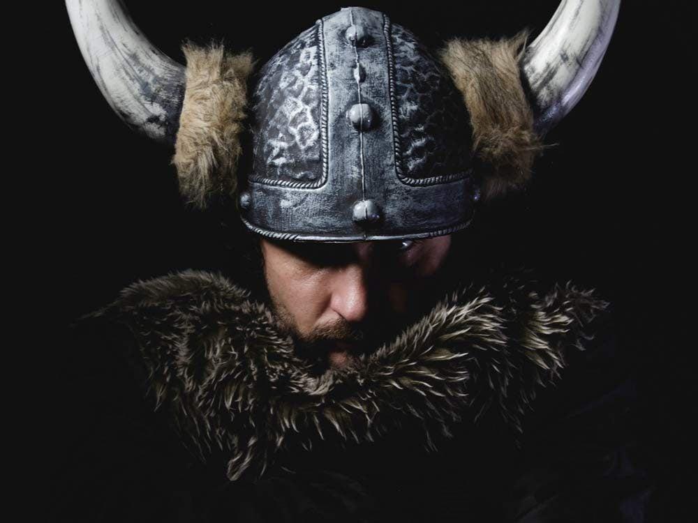 Viking with helmet
