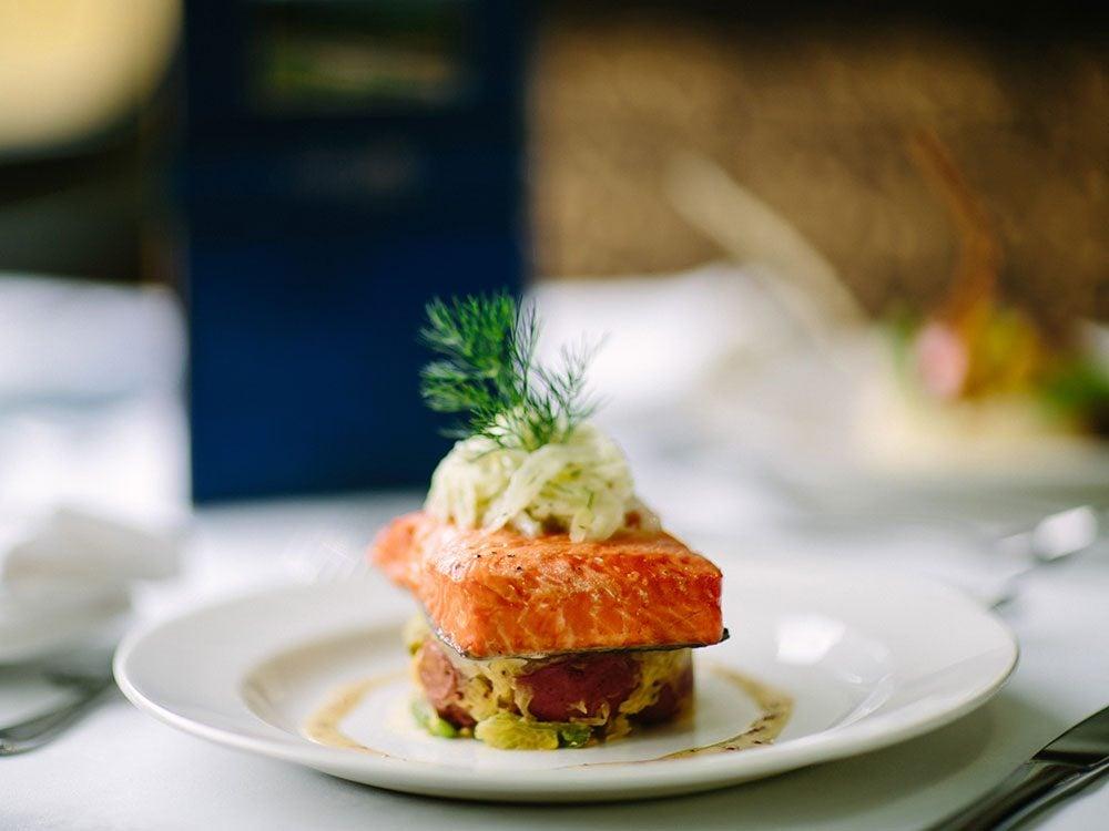 Five star cuisine on Rocky Mountaineer