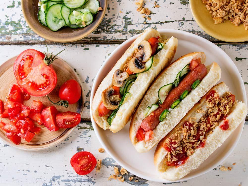 Healthy hotdog toppings