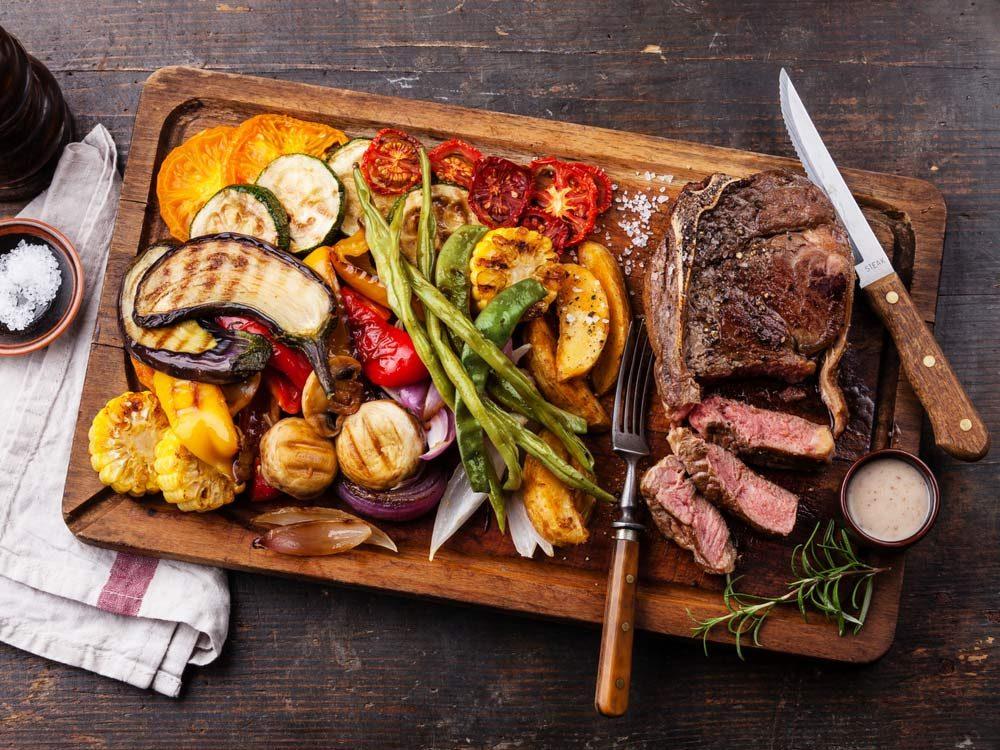 Healthy grilling ingredients