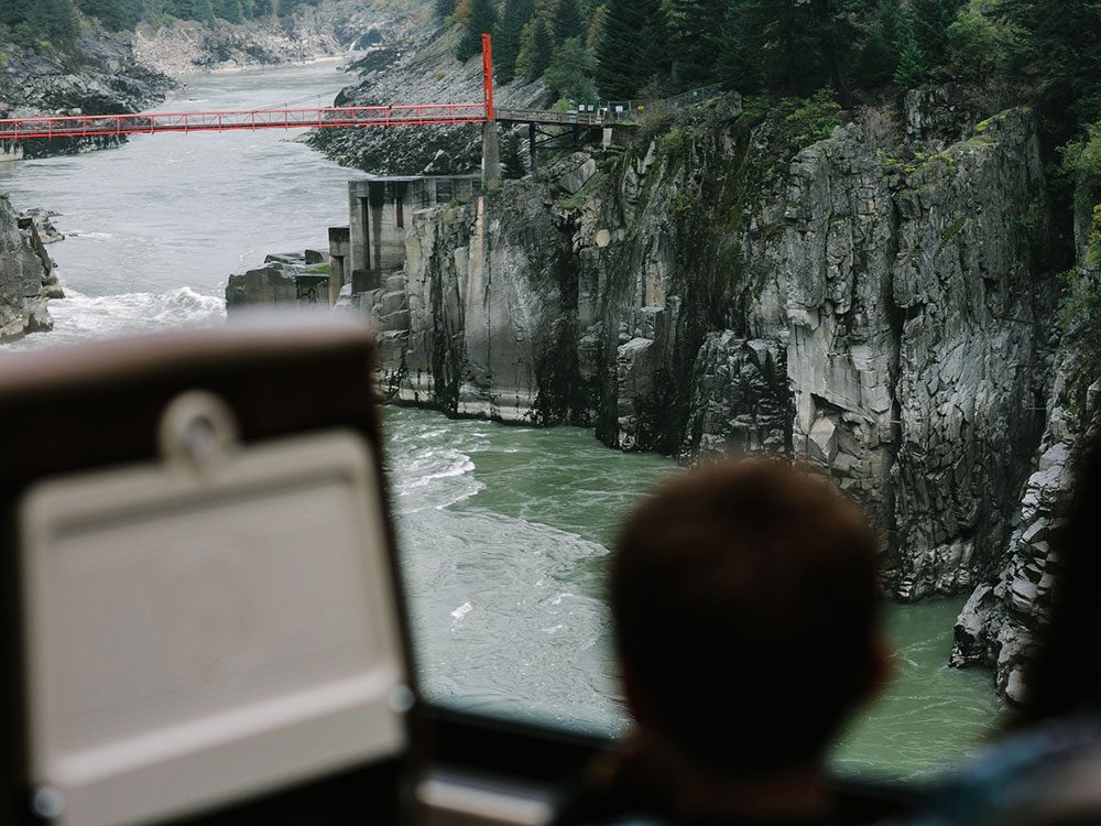 Hell's Gate on Rocky Mountaineer