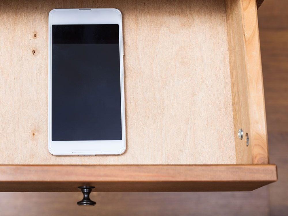 Hide your smartphone away