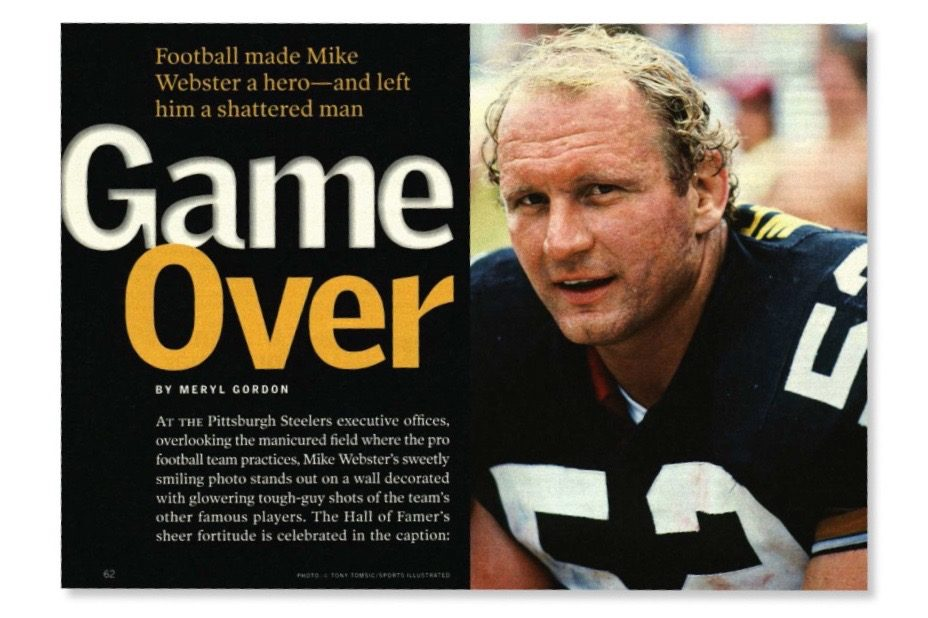 Late football player Mike Webster
