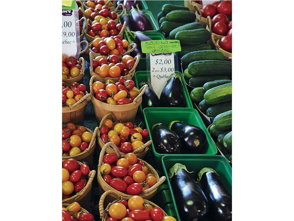 Local produce at Jean Talon Market