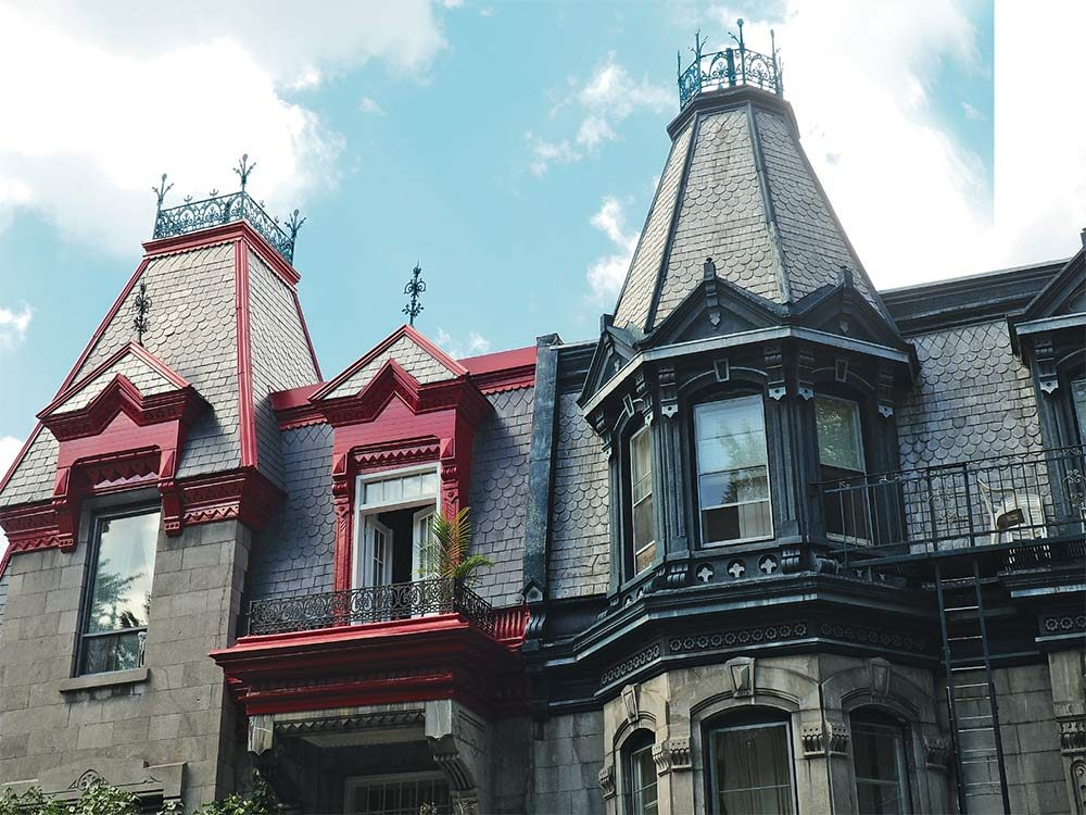 Victorian style houses in Plateau Mont Royal