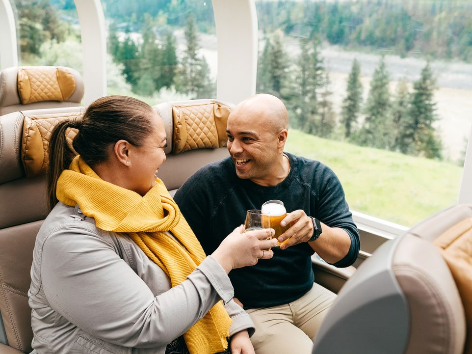 Open bar on Rocky Mountaineer