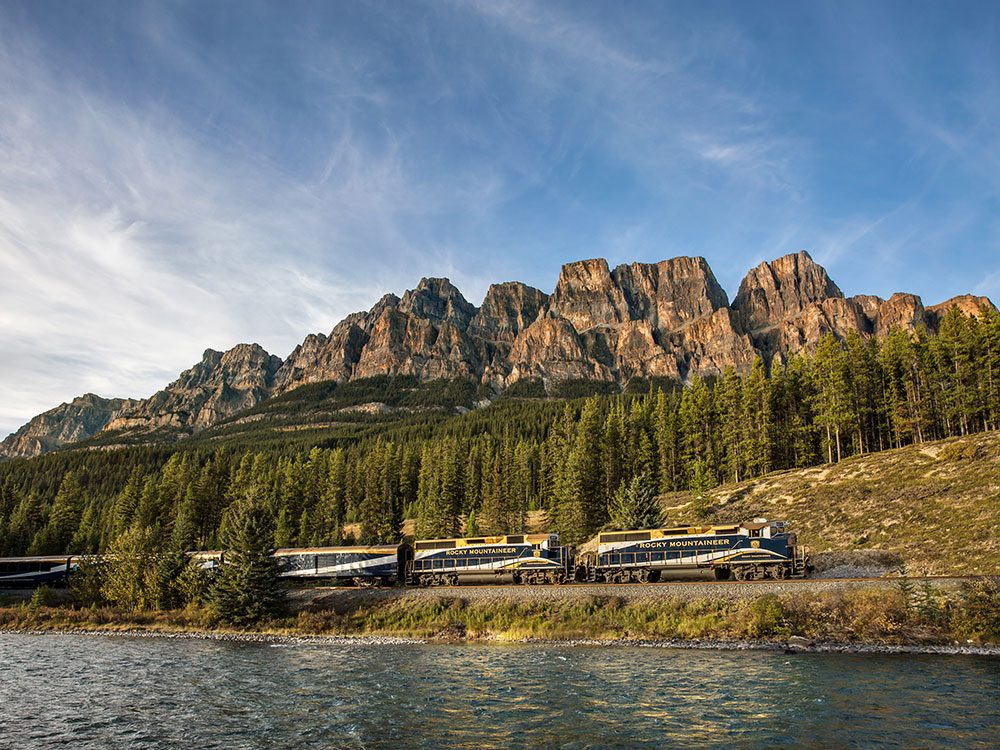 Castle Mountain, Rocky Mountaineer