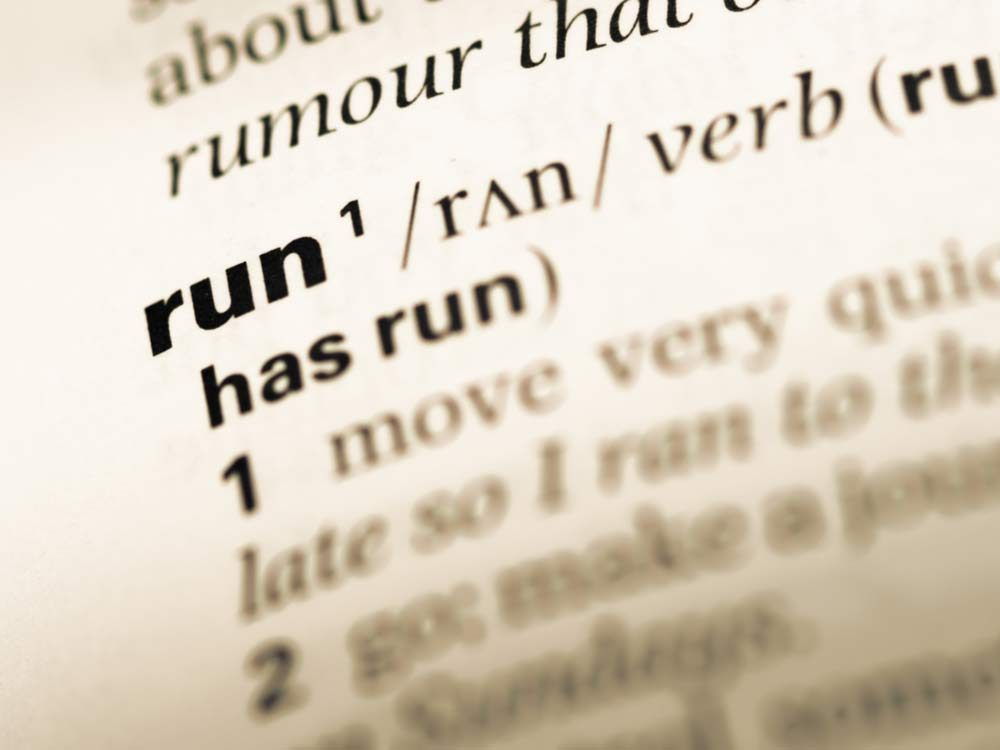 Run is the most complicated English word