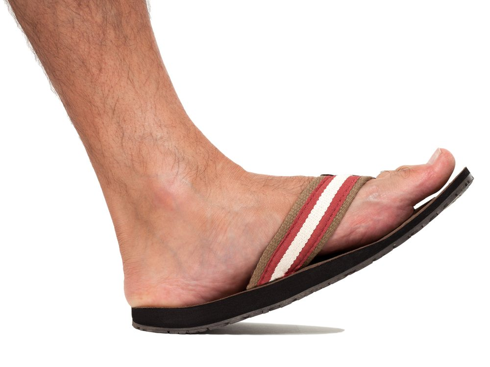 Flip flops can be dangerous according to podiatrists