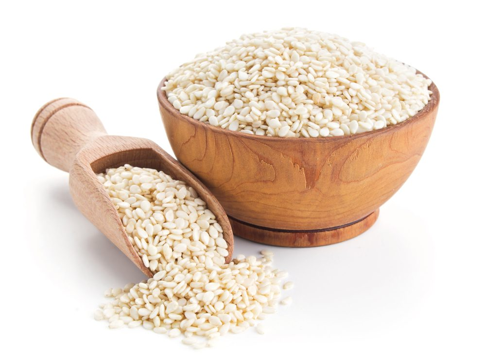 Sesame seeds are a calcium-rich food that will help your burn fat