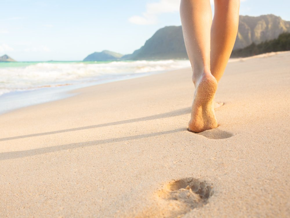 Beat traveller's constipation by walking when you wake up