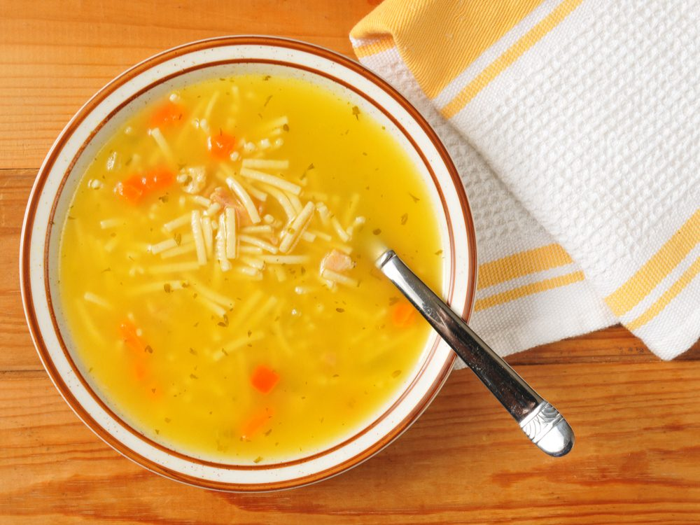 Chicken noodle soup can beat a cold