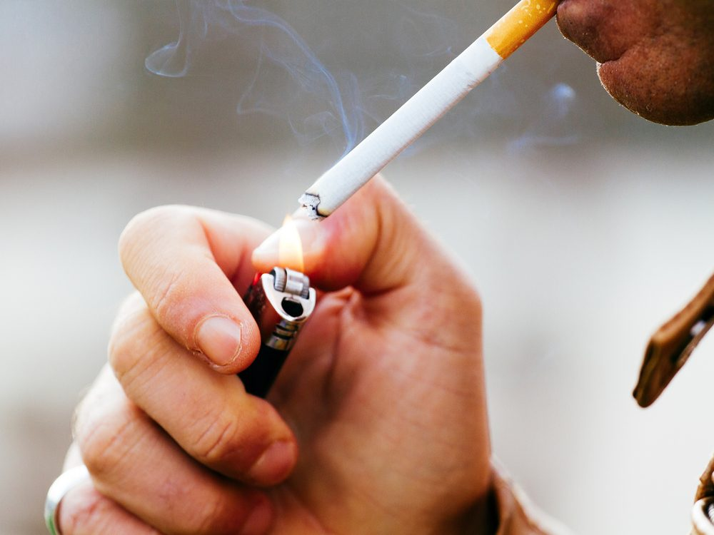 Smoking cigarettes can spike blood sugar levels