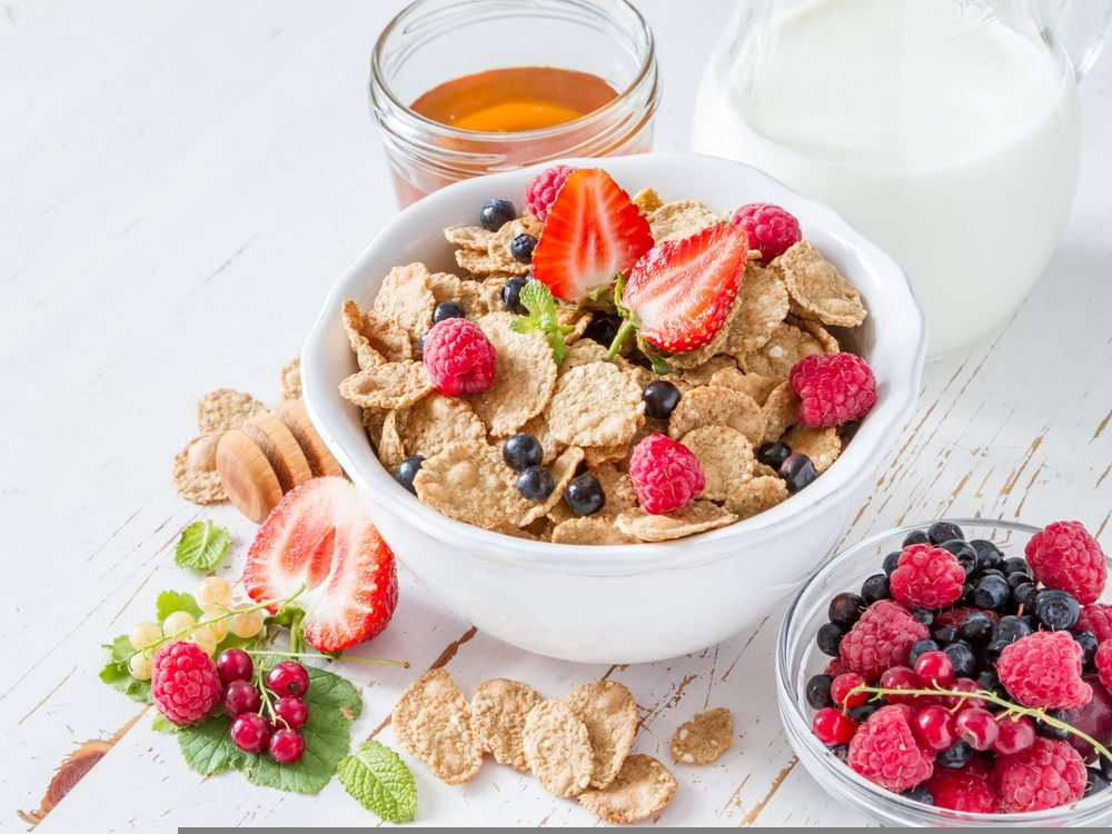 Pour a bowlful of high-fibre cereal