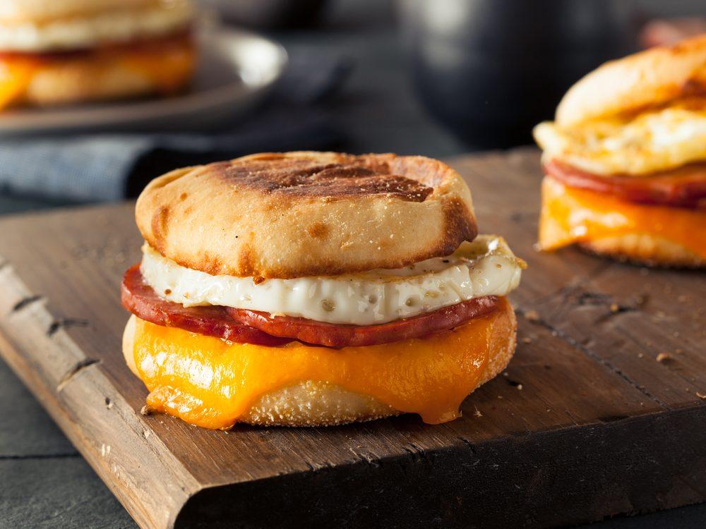 Make a breakfast sandwich
