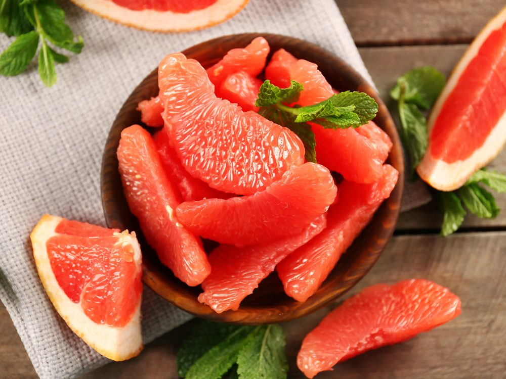 Eat half a grapefruit twice a week