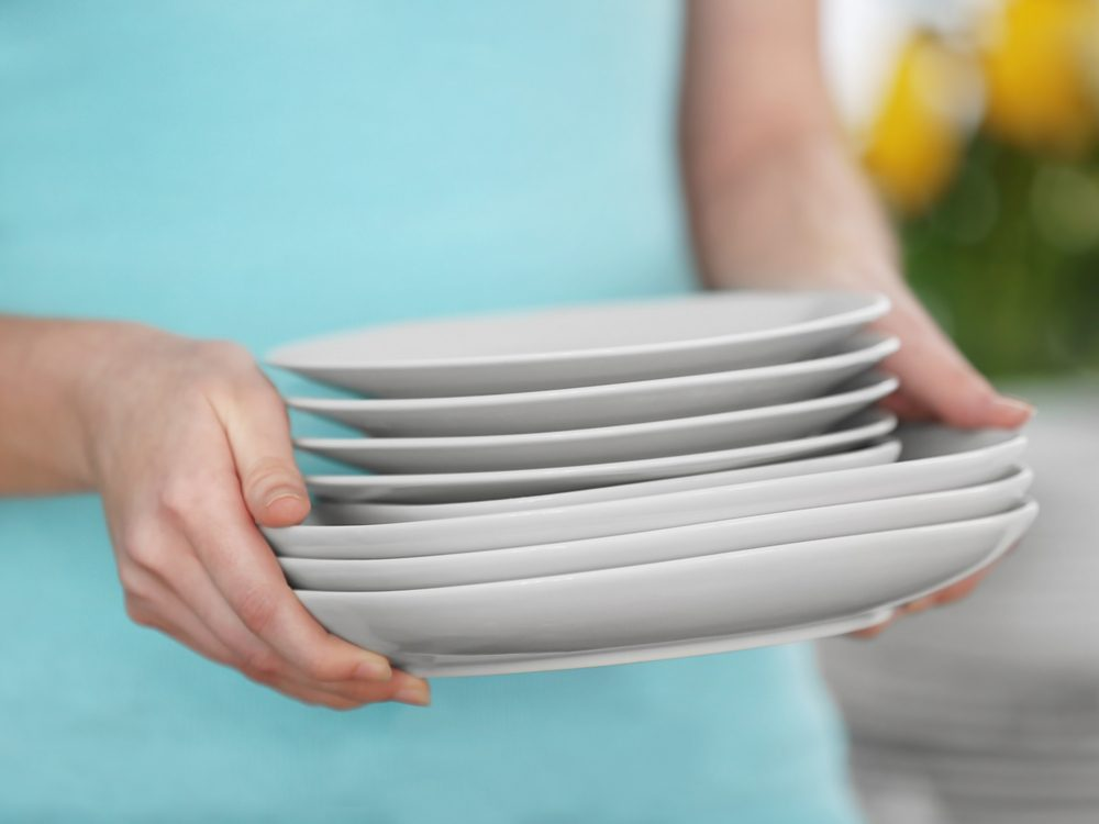 Using a smaller plate is a proven weight loss tip from The Biggest Loser