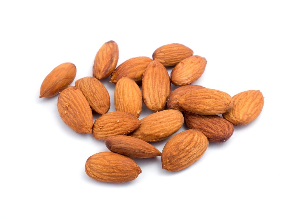 Almonds are a calcium-rich food that will help your burn fat