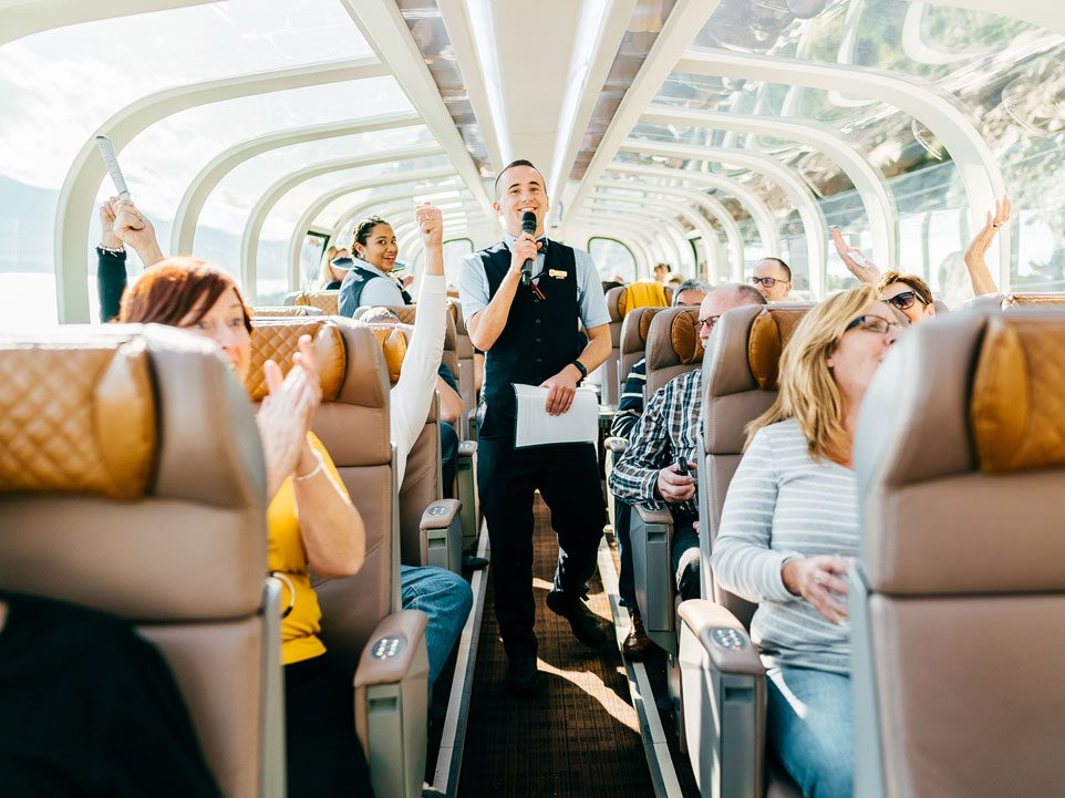Story time on Rocky Mountaineer